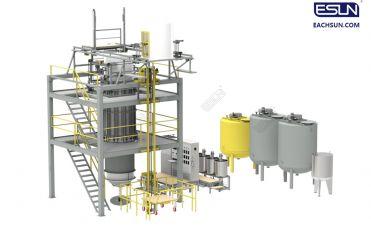 Automatic Continuous Vertical Cylinder Block Pu Block Pu Foaming Machine